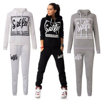 Women's Sports Suit Casual Sweatshirt Track & Sweat Tracksuit Long Sleeve 03-017