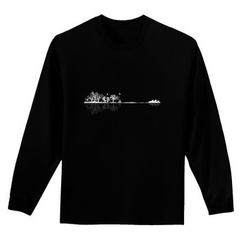 Nature's Harmony Guitar Adult Long Sleeve Dark T-Shirt by TooLoud