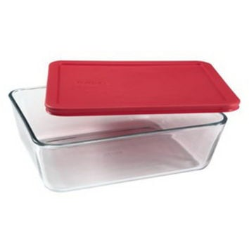 Opentip.com: PYREX 1075451 Simply Store 11 Cup Rectangular Dish w/ Red Lid