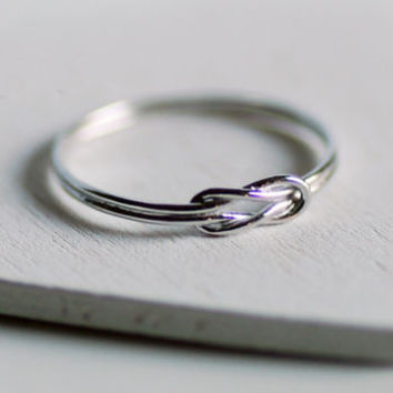Sterling Silver Love Knot Ring