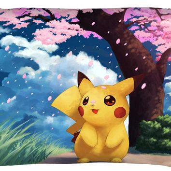 Personalized Custom Zippered Rectangle  Pillow Case (Two sides) High Quality Home Textile Pillow CaseKawaii Pokemon go  AT_89_9