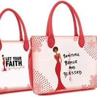 Beautiful, Brave and Blessed Bible Book Cover Bag