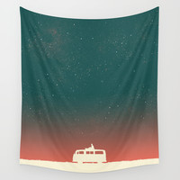 Quiet Night - starry sky Wall Tapestry by Budi Satria Kwan