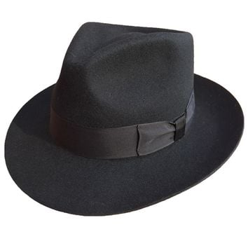 Classic Men's Wool Felt Fedora Hat in Colors