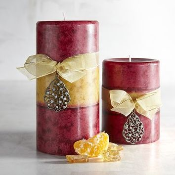 Sugar Plum Layered Pillar Candles