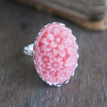 Corsage Ring - Coral