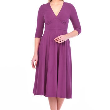 Banded empire cotton knit dress