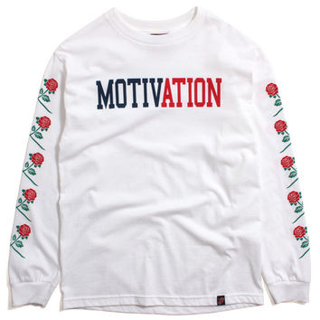 Rose Sleeves Longsleeve T-Shirt White