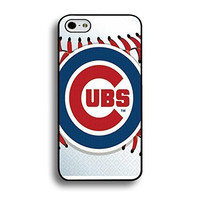 Michael Kruse(TM) Iphone 6 Plus (5.5 Inch) Case Ultra Thin MLB Chicago Cubs Baseball Team Logo Sports Designs Hard Plastic Tpu Style Durable Protection Phone Accessories Case Cover for Men
