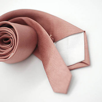 semi shiny Rusty Rosegold,metallic rusty red brown texture nude neutral tan neutral ties,groomsmen,men,nude rosegold rustic vintage wedding