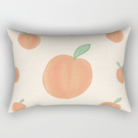 Peachy Rectangular Pillow by sm0w