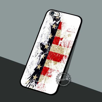 Patriotic Eagle Wallpapers - iPhone 7 6 5 SE Cases & Covers #art
