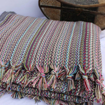 Aztec Blanket Colourful Blanket Organic Throw Blanket Handloomed Blanket Sofa Throw  Woven Blanket Throw EXPRESS SHiPPiNG Via UPS
