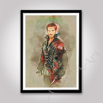 Hook, Captain Hook, Once Upon a Time, Hook print, Instant Download, Hook poster, Captain Killian Jones,  Colin O'Donoghue, teen room poster