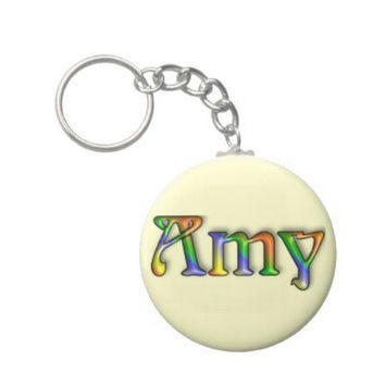 KRW Hippie Groove Name Keychain - Amy from Zazzle.com