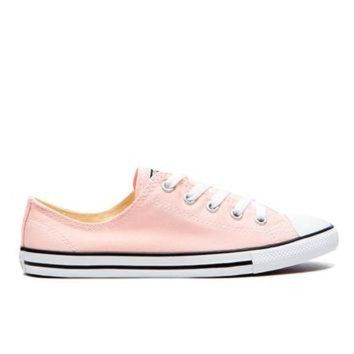 DCCKHD9 Converse Women's Chuck Taylor All Star Dainty Trainers - Vapor Pink/Black/White
