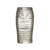 burberry london - sequinned satin pencil skirt