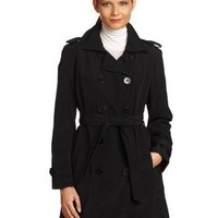 London Fog Women`S Double-Breasted Belted Trench Coat