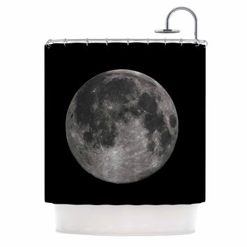 "Alias ""Luna"" Black Gray Shower Curtain"