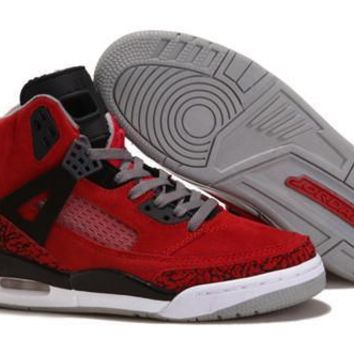 Hot Nike Air Jordan 3.5 Spizike Suede Women Shoes Gym Red