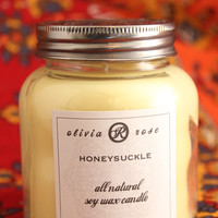 Honeysuckle 7oz Natural Soy Wax Jar Candle