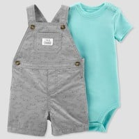 Baby Boys' 2pc Rhino Shortall Set - Just One You™ Made by Carter's® Gray