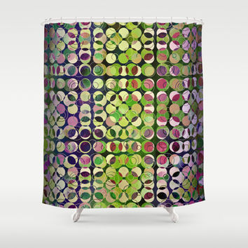 MELANGE OF CIRCLES V Shower Curtain by Pia Schneider [atelier COLOUR-VISION] #art #pattern #showercurtain #curtain #bathroom #home #decor