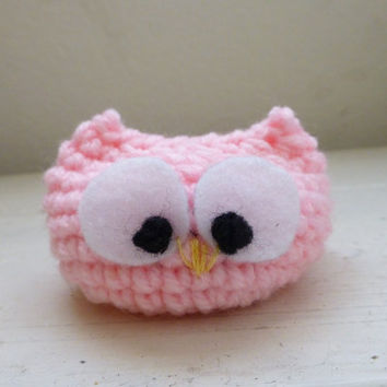 Crochet owl, Owl stuffed animal - Big eyed owl doll, ready to ship, hand crochet, baby shower gift, desk sitter, cute crochet owl