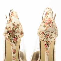 Liliana Nude Floral Pointed Toe Ankle Strap Vinyl Heels @ Cicihot Heel Shoes online store sales:Stiletto Heel Shoes,High Heel Pumps,Womens High Heel Shoes,Prom Shoes,Summer Shoes,Spring Shoes,Spool Heel,Womens Dress Shoes