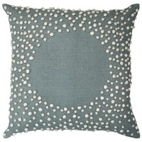 Bandhini Homewear Design Drift Celadon Throw Pillow
