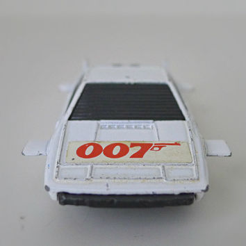 Vintage James Bond 007 Toy Car, 1970s Corgi Junior, Lotus Espirit - movie toy, for him, spy, sci fi, collectible, diecast