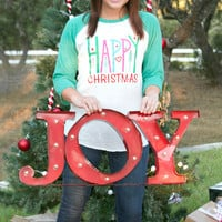 Happy Christmas Raglan By ATX