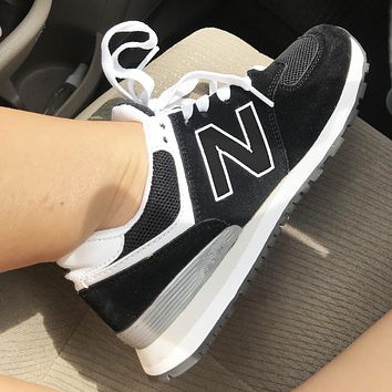 New balance running shoes for men and women classic sneakers N word Black