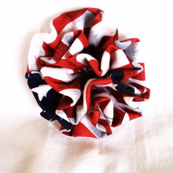 American Flag Flower Accessory by HandtowelsByOlivia on Etsy
