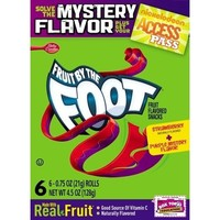 Fruit by the Foot, Strawberry Flavor, 0.75 Oz.Rolls, 6-Count Rolls (Pack of 12)