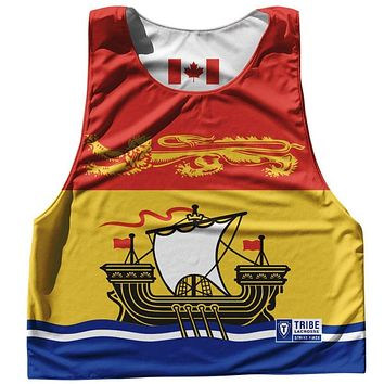 New Brunswick Province Flag and Canada Flag Reversible Lacrosse Pinnie
