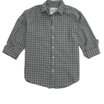 Frank & Eileen Grey with White Windowpane Paul Shirt