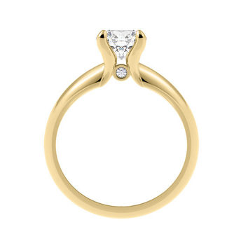 Moissanite Engagement Ring| Recycled 14K Gold| Conflict Free Diamond| Ethical| Forever Brilliant