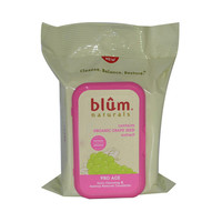 Blum Naturals Daily Cleansing and Makeup Remover Pro Age 30 Towelettes (Case of 3)