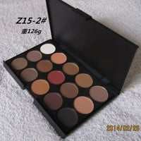 3 Different New fashion 15 Earth Colors Matte Pigment Eyeshadow Palette Cosmetic Makeup Eye Shadow for women free shipping