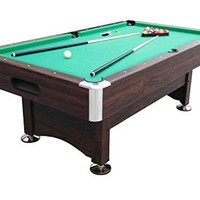 By PoolCentral 7' x 3.96' Brown and Green Billiard and Pool Game Table