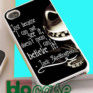 The Nightmare Before Christmas Quotes, Jack Skellington For Iphone 4/4s, iPhone 5/5s, iPhone 5C, iphone 6, and iPhone 6 Plus Case