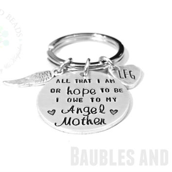Angel Mother Keychain