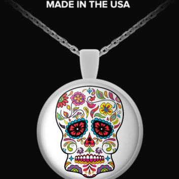 Day Of The Dead Sugar Skull Necklace 2 sugarskull-necklace2