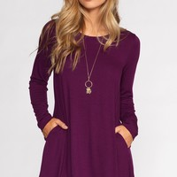 Catching Leaves Dress - Plum