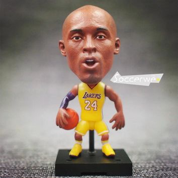 "Basketball Player Movable Dolls 24# kobe Lakers Yellow/Blue/Black 2.5"" Figurine"