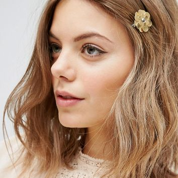 ASOS Metallic Flower Hair Clip at asos.com