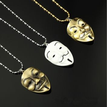 The new V-shaped kimono mask alloy necklace