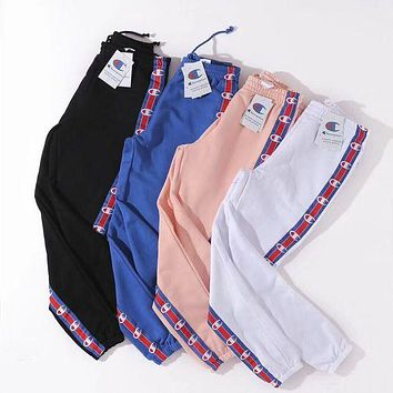 DCCKI2G Champion Woman Men Fashion Drawstring Pants Trousers