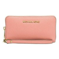 Michael Kors Wallet - Cell Phone Wallet, Wristlet - Pink/Peach - NWOT